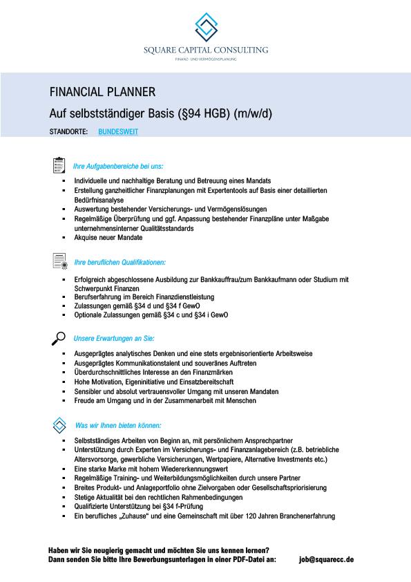 Microsoft Word – SQUARE CC Stellenausschreibung Financial Planne